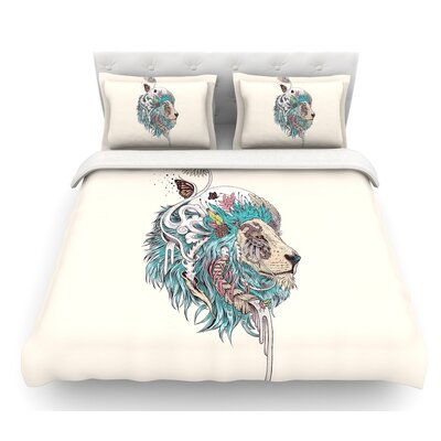 Unbound Autonomy by Mat Miller Abstract Lion Featherweight Duvet Cover Size: Queen