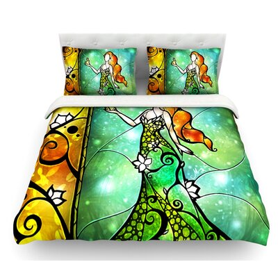 Fairy Tale Frog Prince by Mandie Manzano Featherweight Duvet Cover Size: King, Fabric: Lightweight Polyester