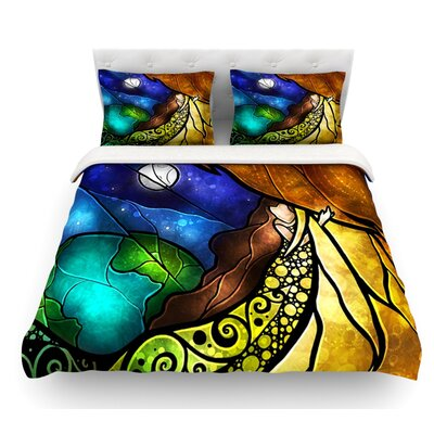Psalms by Mandie Manzano Featherweight Duvet Cover Size: Queen, Fabric: Cotton