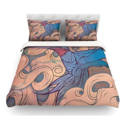 The Aerialist by Mat Miller Featherweight Duvet Cover Size: Queen, Fabric: Lightweight Polyester