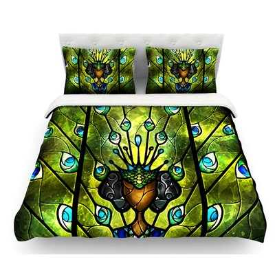 Angel Eyes by Mandie Manzano Featherweight Duvet Cover Size: Twin, Fabric: Woven Polyester