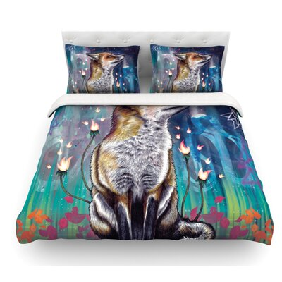 There is a Light by Mat Miller Featherweight Duvet Cover Size: Queen, Fabric: Cotton
