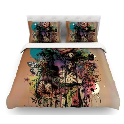 Doom and Bloom by Mat Miller Rose Featherweight Duvet Cover Size: King/California King, Fabric: Woven Polyester