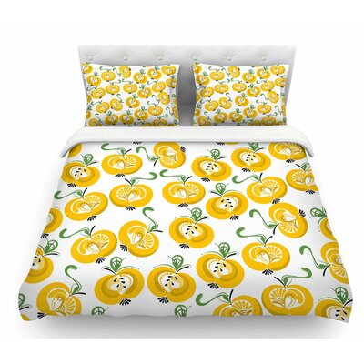 Apple by Maria Bazarova Food Featherweight Duvet Cover Size: Twin