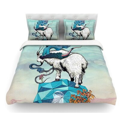 Seeking New Heights by Mat Miller Goat Featherweight Duvet Cover Size: Twin, Fabric: Lightweight Polyester