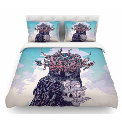 Journeying Spirit Owl by Mat Miller Fantasy Featherweight Duvet Cover Size: King