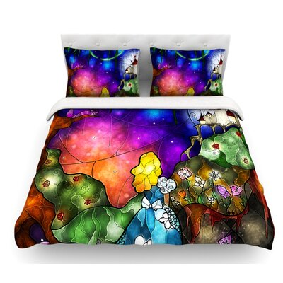 Fairy Tale Alice in Wonderland by Mandie Manzano Featherweight Duvet Cover Size: Queen