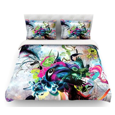 Streaming Eyes by Mat Miller Abstract Featherweight Duvet Cover Size: Twin, Fabric: Woven Polyester