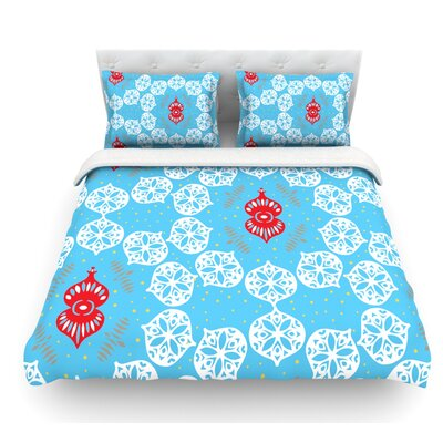 Frosted by Miranda Mol Featherweight Duvet Cover Size: Queen, Color: White, Fabric: Lightweight Polyester