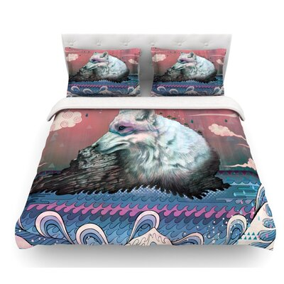 Lone Wolf by Mat Miller Featherweight Duvet Cover Size: Queen