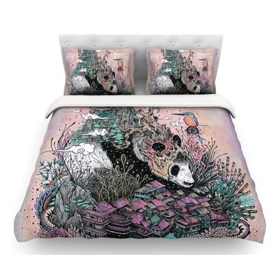 Land of the Sleeping Giant by Mat Miller Panda Featherweight Duvet Cover Size: King, Fabric: Cotton