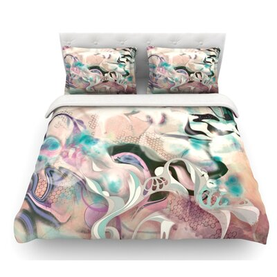 Fluidity by Mat Miller Featherweight Duvet Cover Size: King