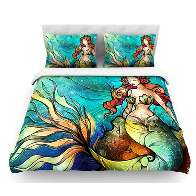 Serene Siren by Mandie Manzano Featherweight Duvet Cover Size: King, Fabric: Lightweight Polyester