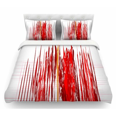 Abstraction by Maria Bazarova Featherweight Duvet Cover Size: Queen