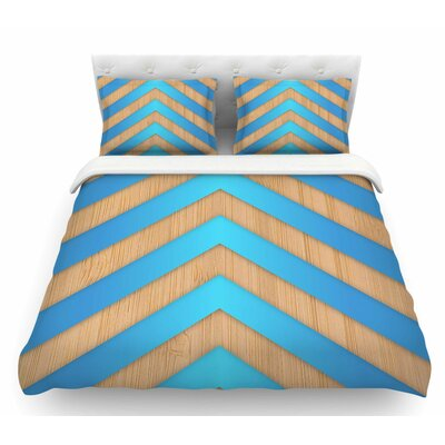 Chevron by Marta Olga Klara Featherweight Duvet Cover Size: Twin