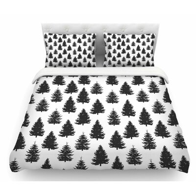 Pine Forest by Marta Olga Klara Nature Featherweight Duvet Cover Size: Queen