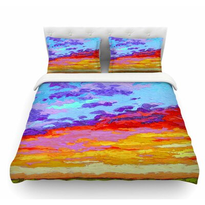 Dancing Clouds Sunset Featherweight Duvet Cover Size: Twin