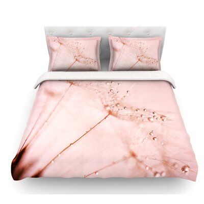 Droplets Blush by Iris Lehnhardt Flower Featherweight Duvet Cover Size: Twin