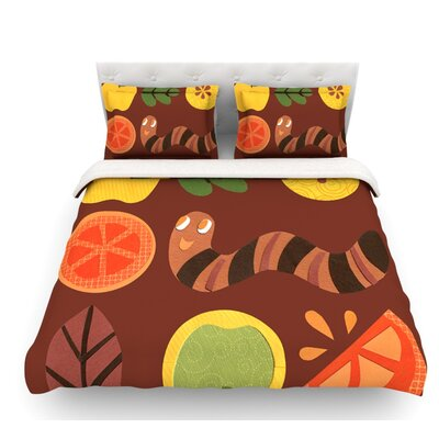 Autumn Repeat by Jane Smith Bugs Featherweight Duvet Cover Size: Queen, Fabric: Woven Polyester