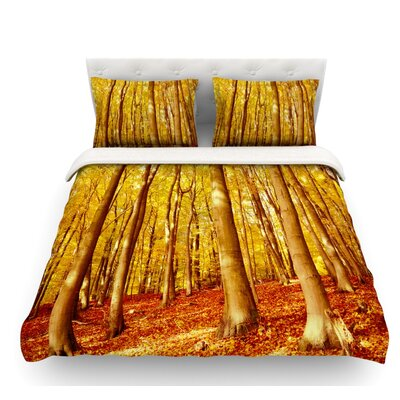 Forest Colors by Iris Lehnhardt Featherweight Duvet Cover Size: Twin