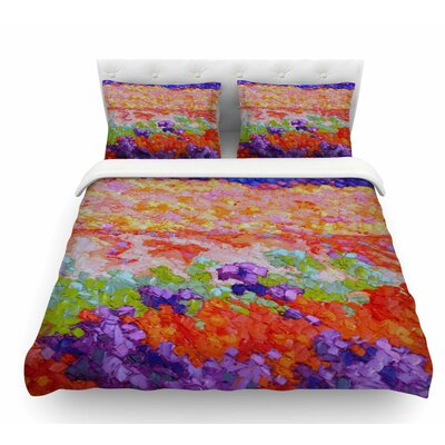 Earthly Delights by Jeff Ferst Floral Abstract Featherweight Duvet Cover Size: King