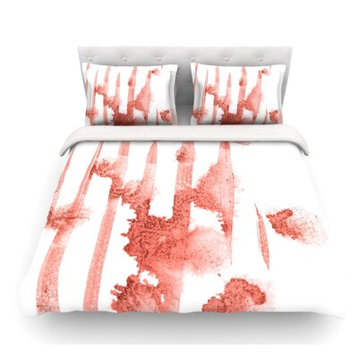Marsala Watercolor by Iris Lehnhardt Featherweight Duvet Cover Size: King