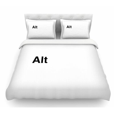 Alt by Jackie Rose Featherweight Duvet Cover Size: Queen
