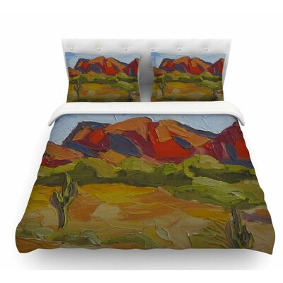 Arizona by Jeff Ferst Desert Mountain Featherweight Duvet Cover Size: King