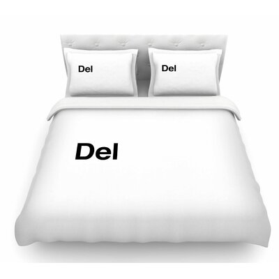 Delete by Jackie Rose Featherweight Duvet Cover Size: Twin