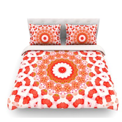 Mandala I by Iris Lehnhardt Featherweight Duvet Cover Size: Twin
