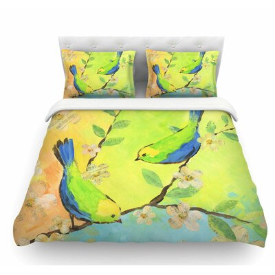 Song Birds by Jacqueline Milton Featherweight Duvet Cover Size: Queen