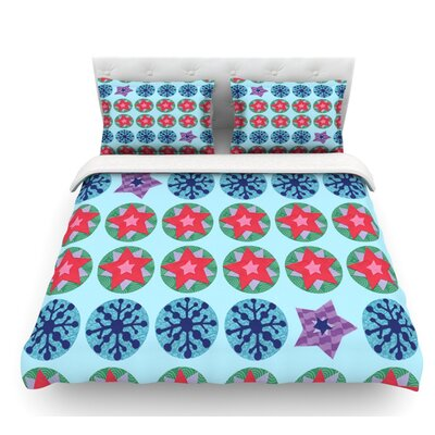 Seasons Winter by Jane Smith Featherweight Duvet Cover Size: Twin, Fabric: Lightweight Polyester
