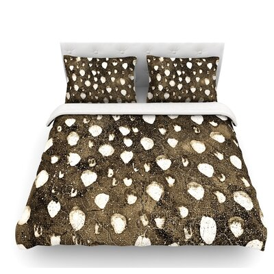 Dots Grunge by Iris Lehnhardt Featherweight Duvet Cover Size: Queen