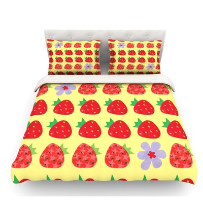 Seasons Summer by Jane Smith Featherweight Duvet Cover Size: King, Fabric: Lightweight Polyester