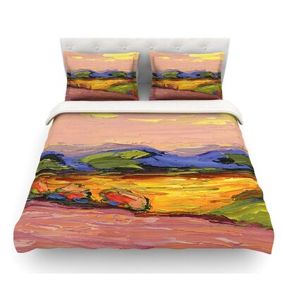 Pastoral View by Jeff Ferst Featherweight Duvet Cover Size: Twin