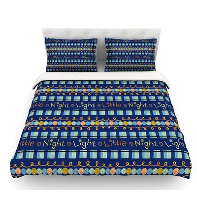 Little Night Light by Jane Smith Featherweight Duvet Cover Size: Queen, Fabric: Lightweight Polyester
