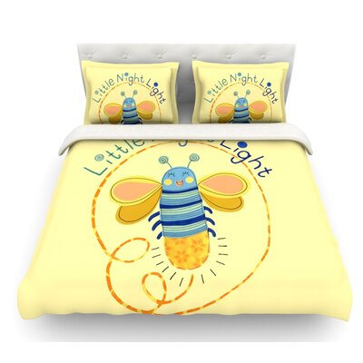 Little Night Bug by Jane Smith Featherweight Duvet Cover Size: Queen