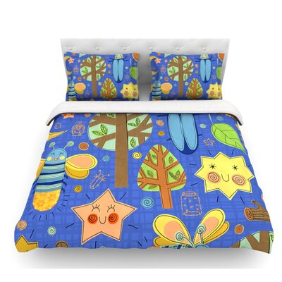 Lightning Bug by Jane Smith Featherweight Duvet Cover Size: Queen, Fabric: Lightweight Polyester