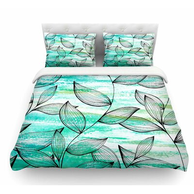 Tropical Leaf Garden by Jessica Wilde Nature Featherweight Duvet Cover Size: King