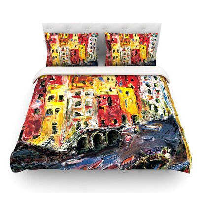 Cinque Terre by Josh Serafin Featherweight Duvet Cover Size: King