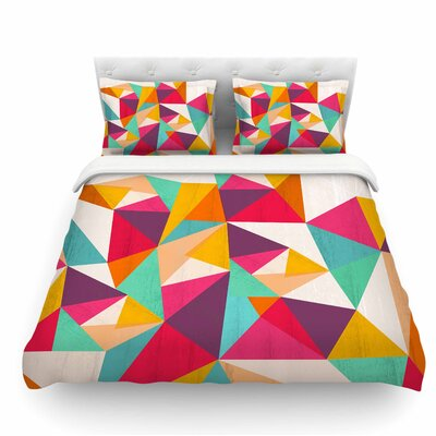 Diamond by Kathleen Kelly Geometric Featherweight Duvet Cover Size: Twin