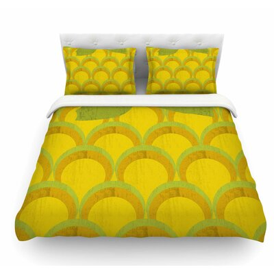Pineapple by Kathleen Kelly Digital Food Featherweight Duvet Cover Size: Queen