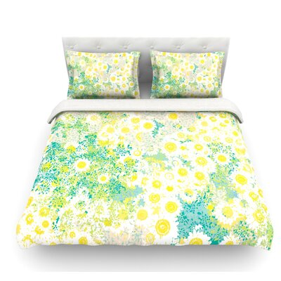 Myatts Meadow by Kathryn Pledger Featherweight Duvet Cover Size: Queen, Fabric: Cotton
