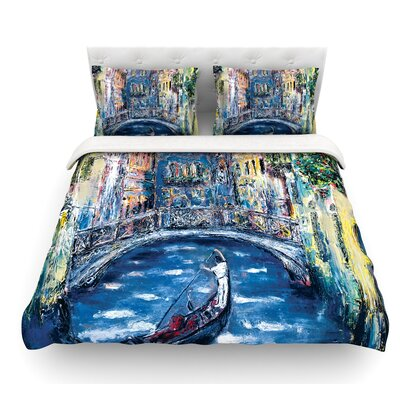 Venice by Josh Serafin Travel Italy Featherweight Duvet Cover Size: Twin