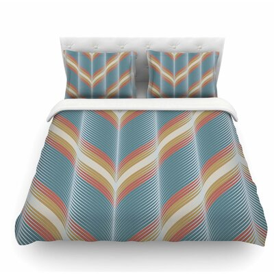Wavy Chevron by Karina Edde Featherweight Duvet Cover Size: King