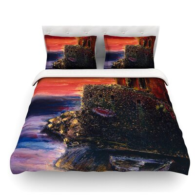 Seaside Village by Josh Serafin Featherweight Duvet Cover Size: King