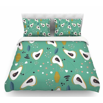 Retro Steaks  Featherweight Duvet Cover Size: Queen