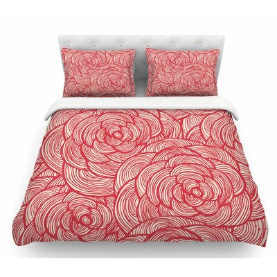Roses  Featherweight Duvet Cover Size: Queen