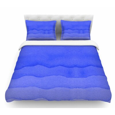 Ombre  Featherweight Duvet Cover Color: Blue, Size: Queen