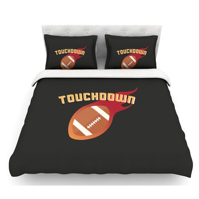 Touchdown XLVI  Sports Football Featherweight Duvet Cover Size: Queen